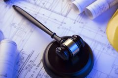 3d背景概念例证查出的法律回报了白色 劳方和建筑法律 安置文本 图库摄影