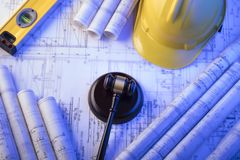 3d背景概念例证查出的法律回报了白色 劳方和建筑法律 安置文本 免版税图库摄影