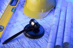 3d背景概念例证查出的法律回报了白色 劳方和建筑法律 库存图片