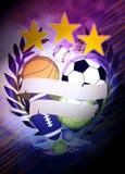 3d背景球例证回报了体育运动 库存照片