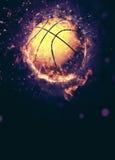 3d背景篮球被回报的例证可实现 库存图片