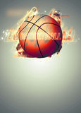 3d背景篮球被回报的例证可实现 免版税库存照片