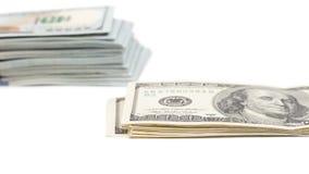 3d背景美元图象白色 免版税库存照片