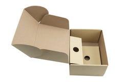 3d背景配件箱回报白色 图库摄影