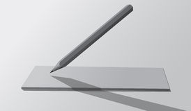 3d背景镜象铅笔白色 库存例证