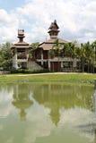 3d背景系列房子例证查出的白色 免版税库存照片