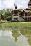 3d背景系列房子例证查出的白色 库存照片