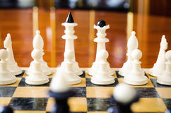 3d背景黑色棋形象高图象回报解决方法 免版税图库摄影