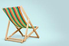 3d背景deckchair图象白色 免版税库存图片
