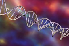 3d脱氧核糖核酸双重螺旋例证回报了 皇族释放例证