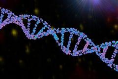 3d脱氧核糖核酸双重螺旋例证回报了 库存例证