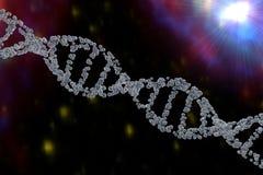 3d脱氧核糖核酸双重螺旋例证回报了 向量例证