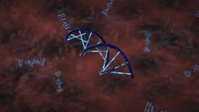 3d脱氧核糖核酸genered图象子线 免版税库存图片