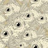 3d艺术动画片概念鱼回报 免版税图库摄影