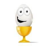3d艺术动画片概念鸡蛋回报 免版税图库摄影