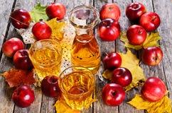 3d苹果苹果概念性下跌的食物玻璃图象汁液自然透明 库存图片