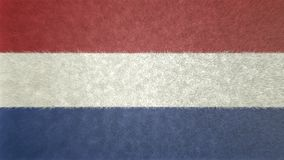 3D荷兰的旗子的图象 库存例证