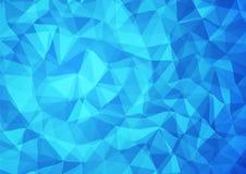 3d蓝色三角背景 免版税库存图片