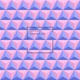 3d蔷薇石英和平静上色了三角无缝的样式 免版税库存图片