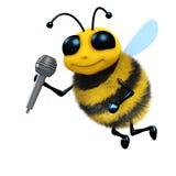 3d蜂唱歌 图库摄影