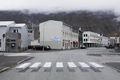 3d行人交叉路在冰岛 免版税库存照片