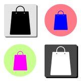 3d袋子美好的尺寸形象例证购物的三非常 平的传染媒介象 库存例证