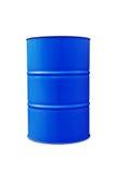 3d被回报的桶蓝色图象油 库存照片