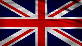 3d被回报的英国旗子 皇族释放例证