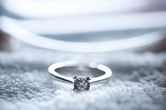 3d被生成的图象环形婚礼 免版税库存照片