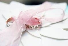 3d被生成的图象环形婚礼 免版税库存图片