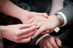 3d被生成的图象环形婚礼 库存照片