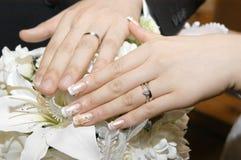 3d被生成的图象环形婚礼 免版税图库摄影