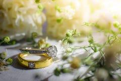 3d被生成的图象环形婚礼 图库摄影