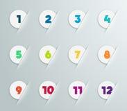 3D被编号步泡影的Infographic 4 免版税图库摄影