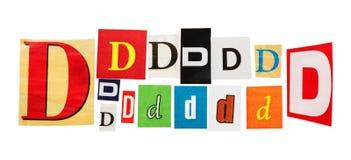 D被设置的题字信件 免版税库存照片