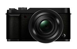 3D被隔绝的例证互换性的透镜Mirrorles照相机 图库摄影