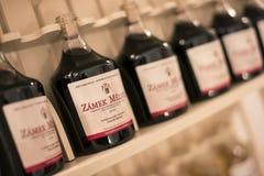 3d装瓶模型白葡萄酒 免版税库存照片