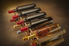 3d装瓶模型白葡萄酒 库存图片