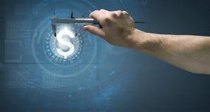 3d计算机例证监控程序证券 免版税库存照片