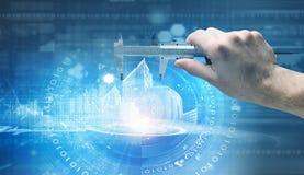 3d计算机例证监控程序证券 免版税库存图片