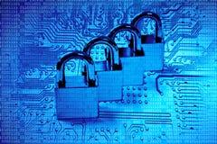 3d计算机例证监控程序证券 库存图片