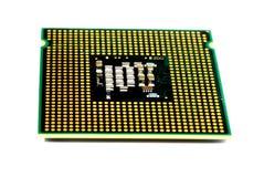 3d计算机模型处理器白色 库存图片