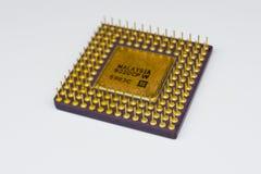 3d计算机模型处理器白色 免版税库存照片