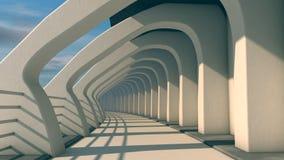 未来派走廊 向量例证