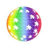 3d设计地球难题 五颜六色的发光的难题例证 10 eps 向量例证
