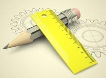 3d设计高的概念回报解决方法 免版税库存图片