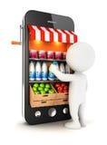 3d超级市场的白人 免版税库存图片
