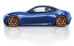 3D跑车车运输例证概念 库存照片