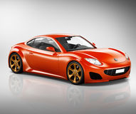 3D跑车车运输例证概念 库存图片