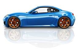 3D跑车车运输例证概念 免版税库存照片